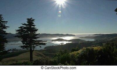 View of Otago Peninsula - Dunedin, New Zealand. View from...
