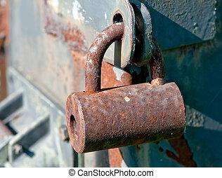 padlock in detail