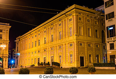 View of Palazzo Ducale in Genoa, Italy