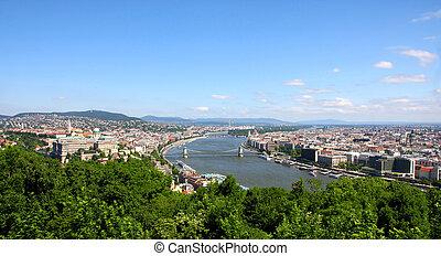 view of panorama Budapest, Hungary
