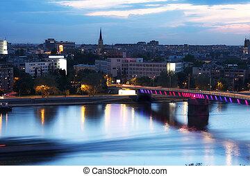 view of panorama Novi Sad, Serbia, from Petrovaradin...