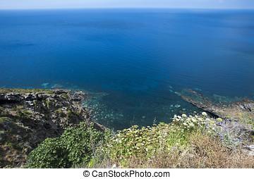 View of Pantelleria coast