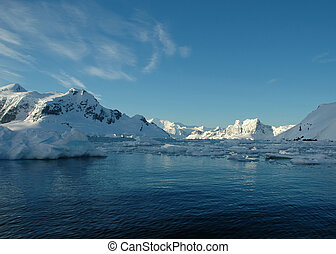 Paradise Bay - View of Paradise Bay, Antarctica