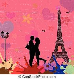 View of Paris concept