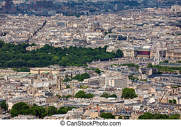View of Paris from above.