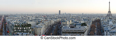 View of Paris from Arc de Triomphe