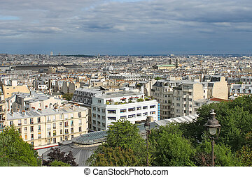 View of Paris from Montmartre. France