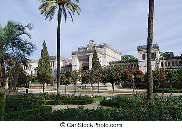 View of park Maria - Luisa in Andalusia, Spain