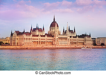 View of parliament in Budapest, Hungary