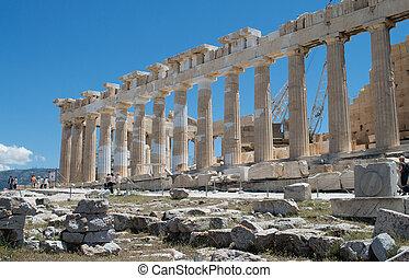 view of Parthenon Temple, Acropolis