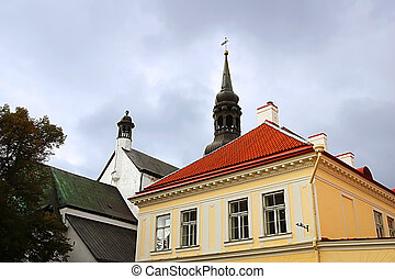 View of parts of St. Mary's Cathedral, Tallinn, Estonia
