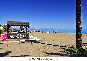 Pedregalejo Beach in Malaga, Spain