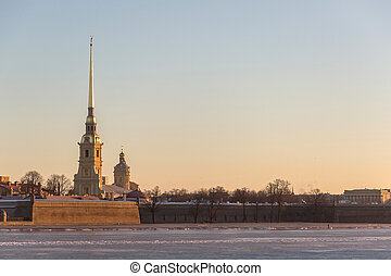 Peter and Paul Fortress - View of Peter and Paul Fortress at...