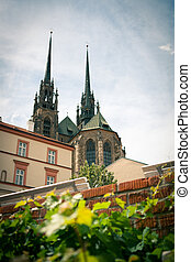 "View of ""Petrov"" - the Cathedral of St. Peter and Paul in Brno, South Moravia, Czech Republic"