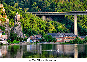 View of picturesque Dinant city. Belgium - View of ...