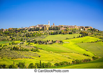 View of Pienza in Tuscany, Italy