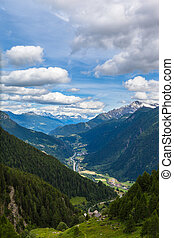 View of Piora Valley in Ticino - Beautiful view of the Piora...
