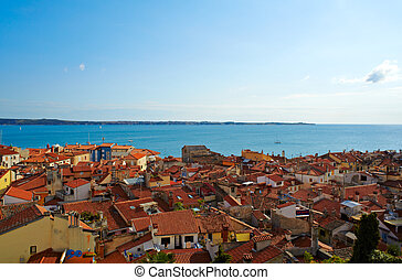 Piran roof - View of Piran roof, Slovenia
