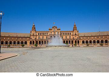 view of Plaza de España, Seville, Spain