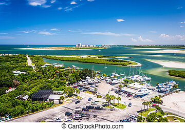 View of Ponce Inlet and New Smyrna Beach from Ponce de Leon ...