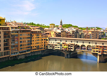 View of Ponte Vecchio, Florence - Ponte Vecchio. View from...