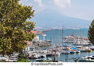 View of port in Naples