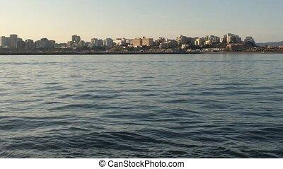 View of Portimao port from Molhe in Ferragudo Portimao...