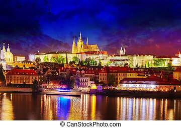 View of Prague Castle from waterfront