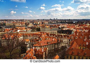 view of Prague center, Czech Republic