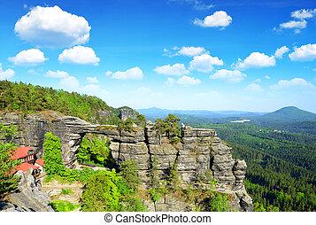 View of Pravcicka brana, Czech Republic. - View of Pravcicka...