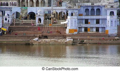 View of Pushkar, Rajasthan, India - Magnificent view of...