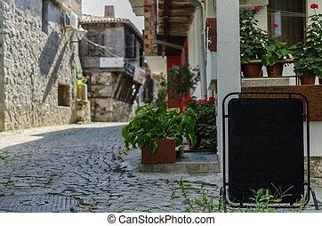 view of quiet street in old village - view of quiet street...