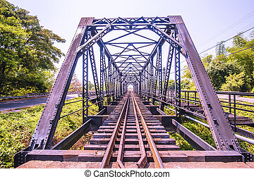 view of railroad iron bridge