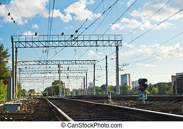 view of railway on summer day
