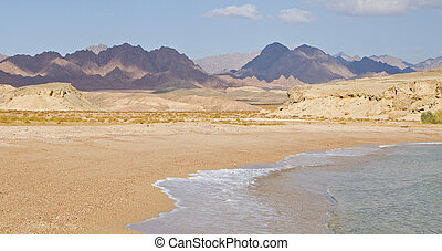 View of Ras Mohammed in the red sea