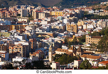 residential districts in andalusian city. Malaga