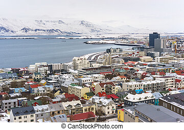View of Reykjavik Iceland - A up high view of Reyjakavik...