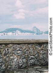 View of Rio de Janeiro with mountain Sugar Loaf