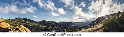View of Rocky Peaks in San Fernando Valley California