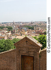 view of Rome from Janiculum Hill, Italy
