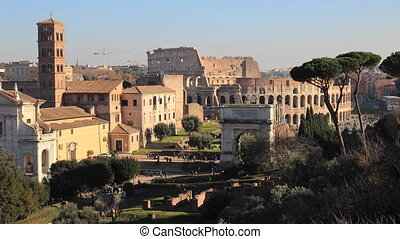 view of Rome from the Palatine