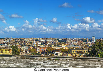 View of Rome, Italy - Aerial panoramic view of Rome from ...