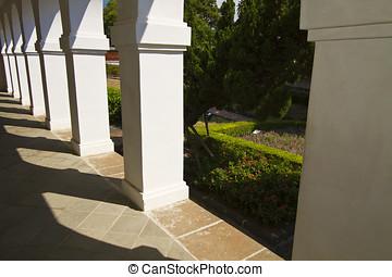 Row of pillars
