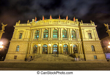 View of Rudolfinum concert hall in Prague