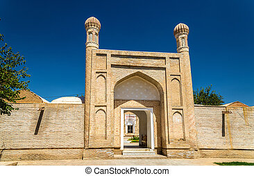 View of Rukhabad Mausoleum in Samarkand, Uzbekistan