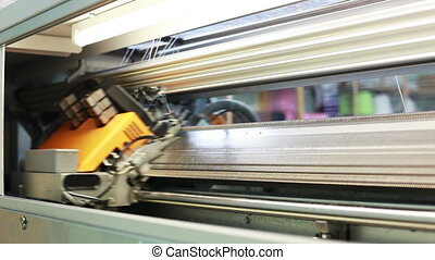 View of running bobbin on loom