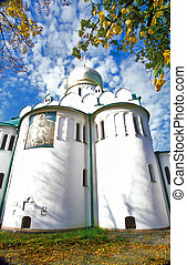 View of russian cathedral from below