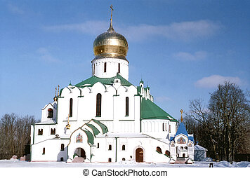 View of russian cathedral in winter