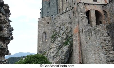 View of Sacra di San Michele, in Italy - View of Sacra di...