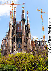 Sagrada Familia by architect Antoni Gaudi - View of Sagrada...